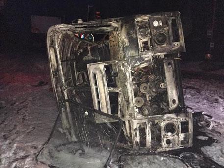 Снаряд предизвика катастрофа на автобус в Донецк