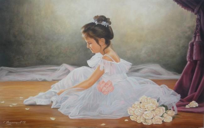 Малката балерина.  Художник Олег Булгаков