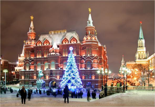 Русия посрещна Новата година цели 9 пъти