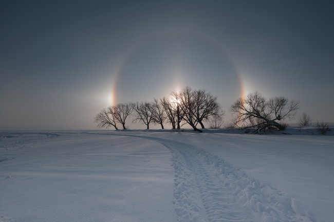 """Три слънца"" изгряха над Челябинск"