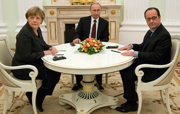 Над 5 часа разговаряха Меркел, Оланд и Путин