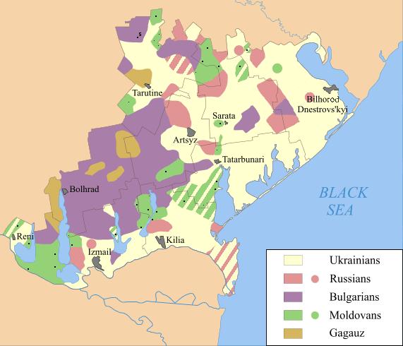 Населени с българи територии в Буджака. Снимка Wikipedia