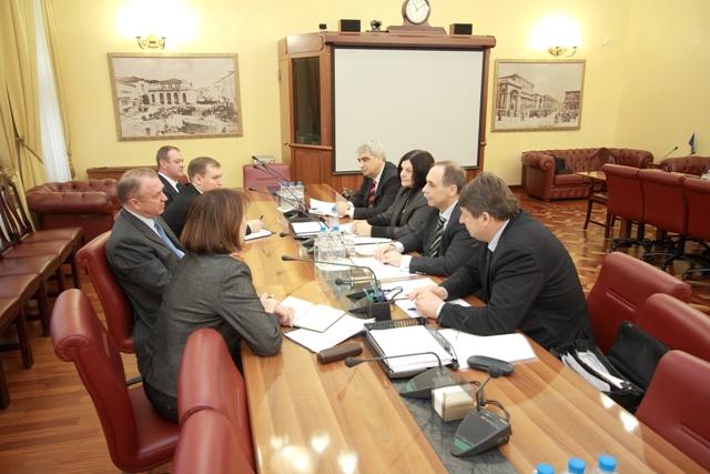 Посланикът на България в РФ г-н Бойко Коцев обсъди възможностите за разширяване на деловото сътрудничество с ръководителя на ТПП на Русия г-н Сергей Катирин.