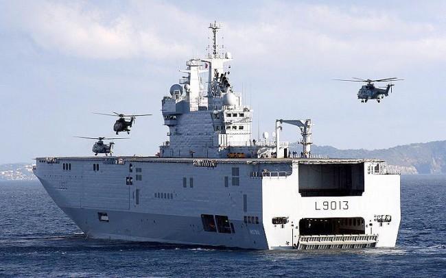 """Вторият """"Мистрал"""" е пуснат на вода, но без руски моряци"""