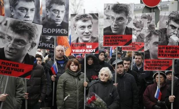 Траурното шествие в памет на Борис Немцов в Москва завърши