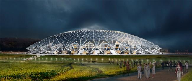 """""""Космос Арена""""-новият стадион в Самара"""