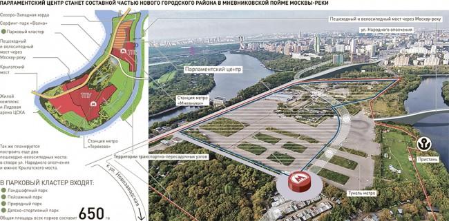Парламентарният център на РФ ще е в Мньовники