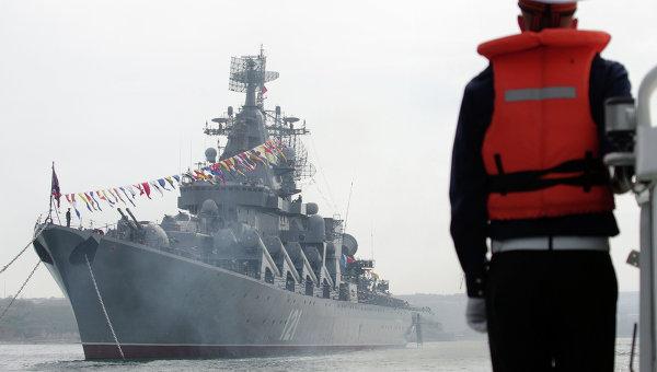 Флагманът на руския Черноморски флот отплава за учения с ВМС на Китай