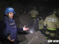 Снаряд удари жилищна сграда в Донецк (видео)