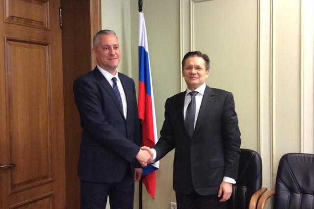 Министърът на икономиката Божидар Лукарски и първият зам.-министър на икономическото развитие на Руската Федерация Алексей Лихачов се срещнаха в Москва.