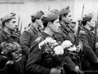 Посрещане на Първа българска армия, завърнала се от фронта, героите от Страцин - първа фаза, София, 1945 г Снимка: Изгубената България