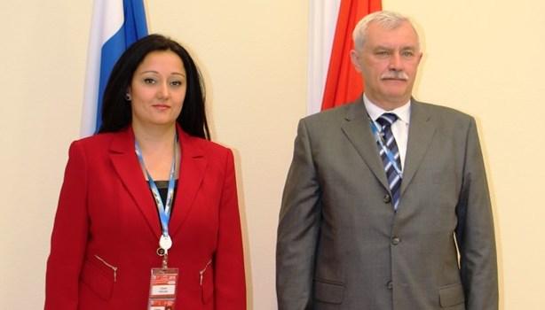 Снимка: МРРБ. Министър Лиляна Павлова се срещна с губернатора на Санкт Петербург