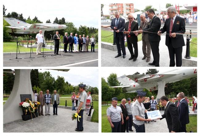 Руски и български космонавт почетоха официалното откриване на паметника по случай 100-годишнината на българската авиация и ВВС