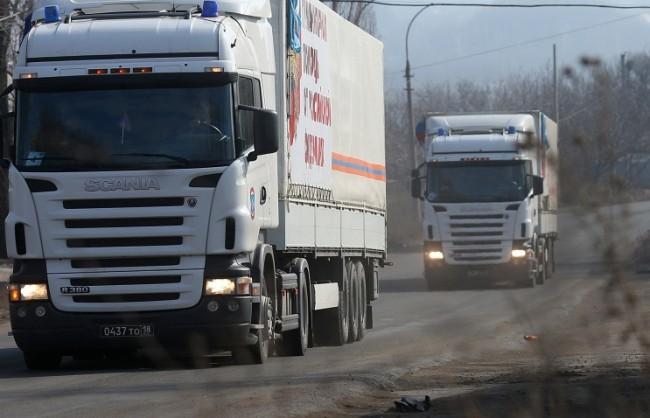 33-тата колона с хуманитарна помощ от Русия пристигна в Донецк и Луганск