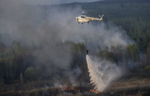 Пожар в Чернобил разпръсна радиация