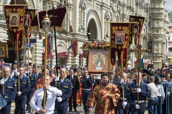 В Москва се проведе литийно шествие с участието на десантчици