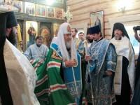 Патриарх Кирил освети извора на р. Днепър и паметник на княз Владимир