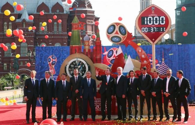 В Русия празнуват 1000 дни до началото на световното по футбол