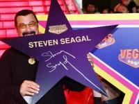 Стивън Сегал със звезда на Алеята на славата в Москва