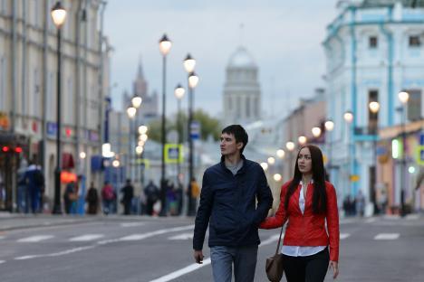 Китай-город днес е най-големият фрагмент от стара Москва, съхранил се с минимални промени. Снимка: ТАСС