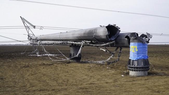 Крим остана без доставка на електроенергия от Украйна