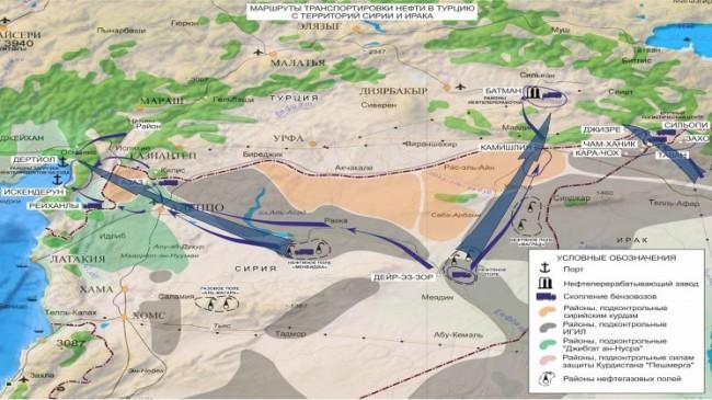 МО на РФ предостави информация за маршрутите за доставка на нелегален петрол в Турция