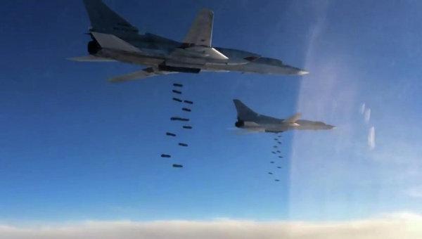 МО на РФ публикува видео на ударите на Ту-22М3 срещу обекти на ИД в Сирия