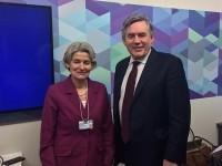 Ирина Бокова и Гордън Браун в Давос: Образованието ще гарантира сигурността по света