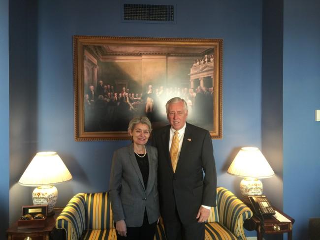 Генералният директор на ЮНЕСКО Ирина Бокова  на посещение в САЩ