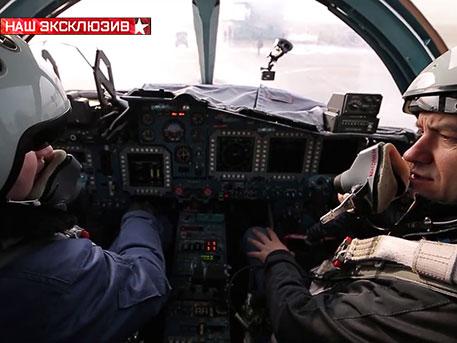 Ексклузивни кадри от кабината на най-новия Су-34 (видео)