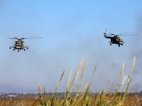 Три ударни вертолета от ВКС на РФ напуснаха авиобазата Хмеймим в Сирия