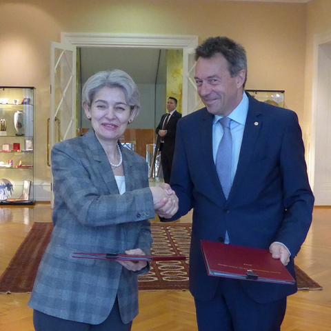 ЮНЕСКО ще работи заедно с Червения кръст и Червения полумесец по опазването  на културното наследство при военни конфликти