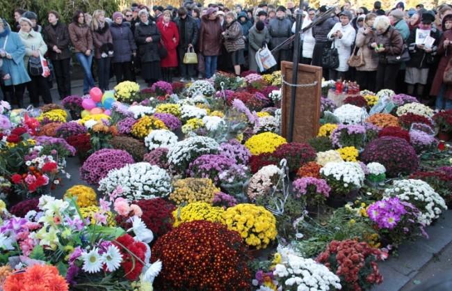 В Одеса се проведе акция в памет на жертвите в Дома на профсъюзите