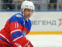 Путин вкара една шайба в мач от турнира на Нощната хокейна лига