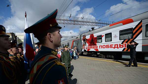 """Пет хиляди души посрещнаха агитационния влак """"Армия на Победата"""" в Чита"""