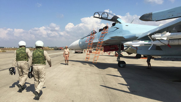 Руската авиация в Сирия от птичи поглед. Видео