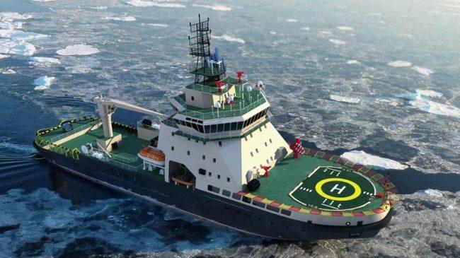 Първият от 45 години насам ледоразбивач за ВМФ на Русия бе спуснат на вода в Санкт Петербург