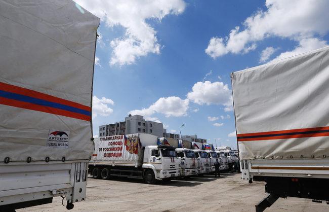 Русия достави 400 тона хуманитарна помощ в Донбас