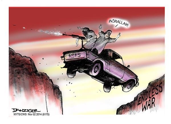 ISIS, ISIL, Islamic State, Inshallah, Religious War, political cartoon