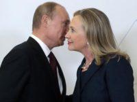 Среща на Владимир Путин и Хилъри Клинтън във Владивосток през 2012 г.