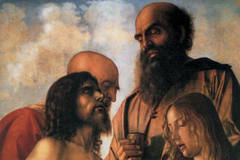 """Джовани Белини. """"Оплакване"""". Фрагмент. Пинакотека Ватикана. Снимка: ufficio stampa"""