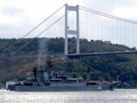 """⟳ГДК """"Александър Шабалин"""" минава под мост в Босфора в Истанбул"""