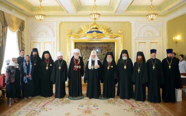 Среща на патриарх Кирил с делегация на БПЦ