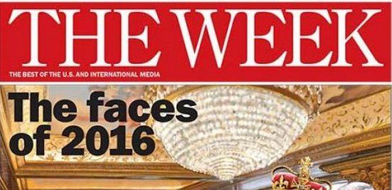 Списание The Week помести на корицата си карикатура на Путин и Тръмп