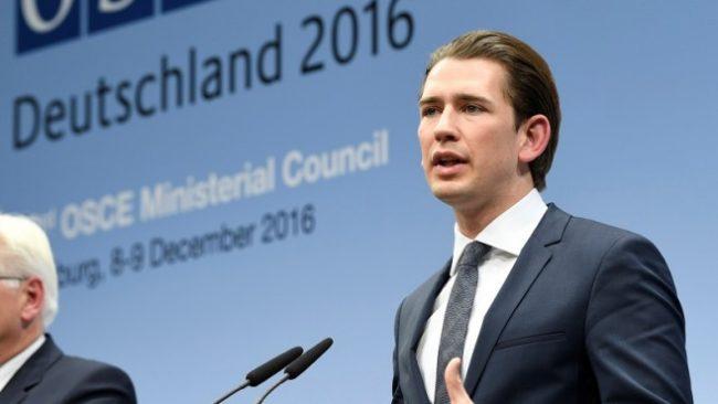 Себастиан Курц, външния министър на Австрия
