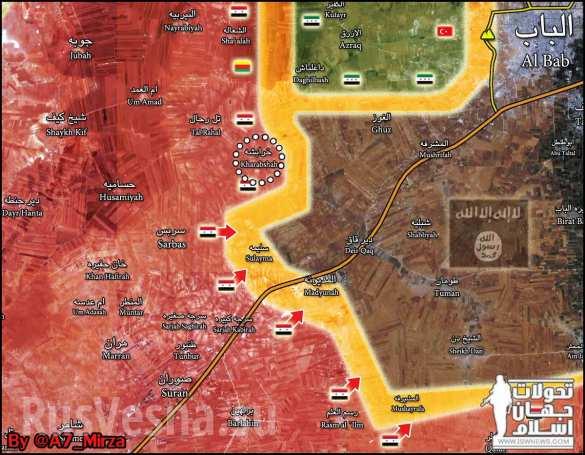 """Тигрите"""" и ВКС на Русия удрят по терористите от """"Ислямска държава"""" край Ал Баб (СНИМКИ/ВИДЕО/КАРТА)"""