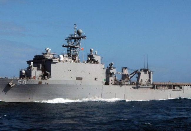 Американски десантен кораб влезе в акваторията на Черно море (ВИДЕО)