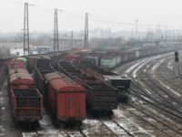 Това са празни вагони в Донецката народна република (ДНР), които трябваше да бъдат натоварени с донбаски въглища за Украйна. / БГНЕС