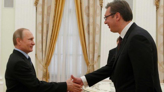 Ситуацията на Балканите е в центъра на разговорите Путин-Вучич. / БГНЕС
