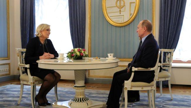 Путин се срещна с Льо Пен и обяви, че не се меси в изборите във Франция